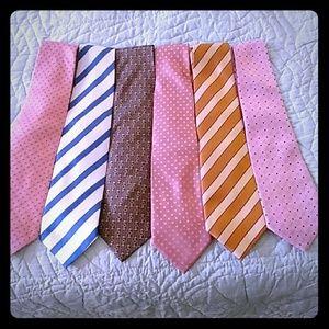 Bundle of 6 mens neck ties